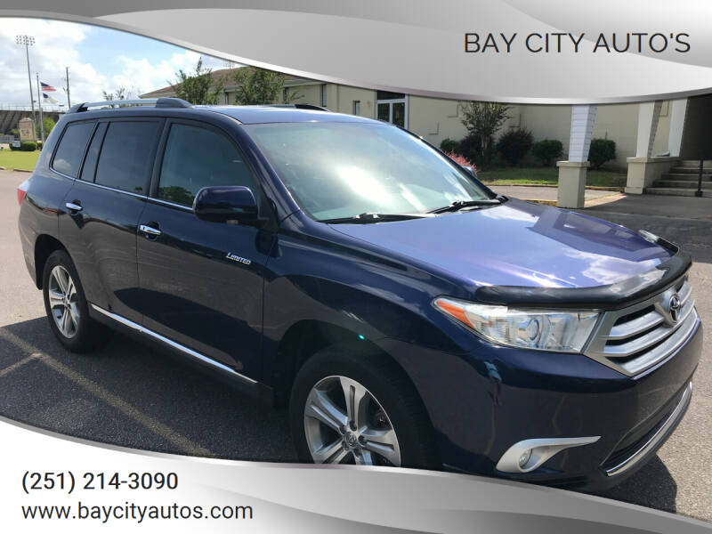 2011 Toyota Highlander for sale at Bay City Auto's in Mobile AL