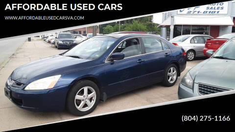 2003 Honda Accord for sale at AFFORDABLE USED CARS in Richmond VA