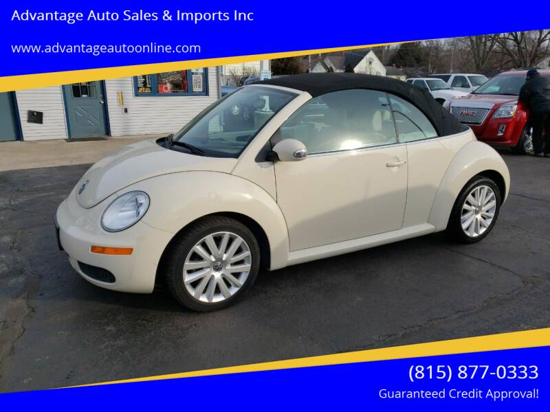 2010 Volkswagen New Beetle Convertible for sale at Advantage Auto Sales & Imports Inc in Loves Park IL