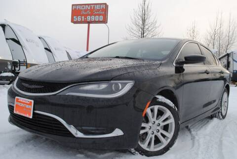 2015 Chrysler 200 for sale at Frontier Auto & RV Sales in Anchorage AK