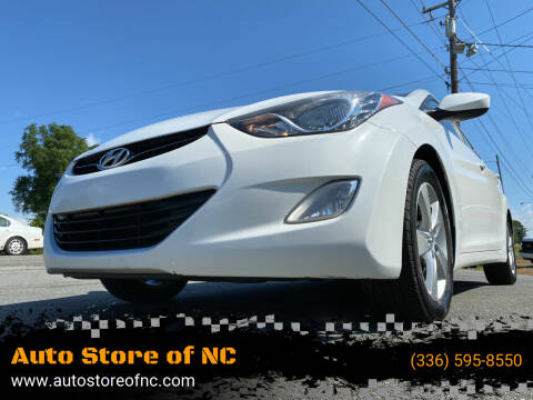 2012 Hyundai Elantra for sale at Auto Store of NC in Walkertown NC