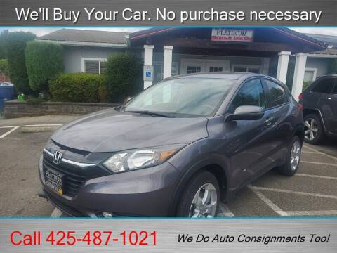 2016 Honda HR-V for sale at Platinum Autos in Woodinville WA
