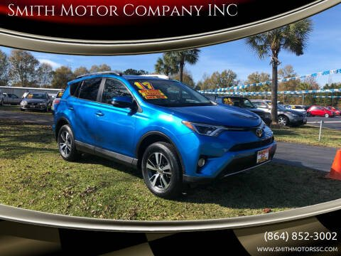 2017 Toyota RAV4 for sale at Smith Motor Company INC in Mc Cormick SC