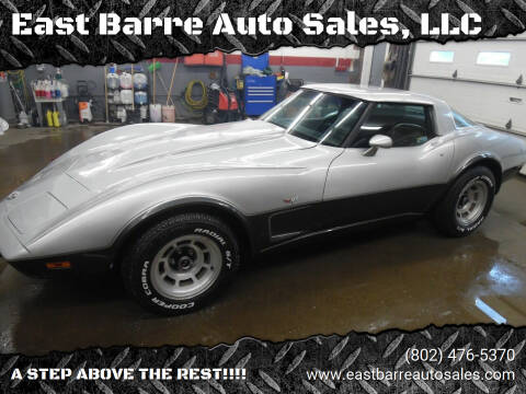 1978 Chevrolet Corvette for sale at East Barre Auto Sales, LLC in East Barre VT