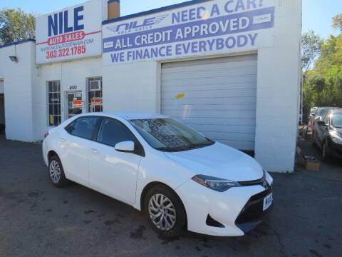 2017 Toyota Corolla for sale at Nile Auto Sales in Denver CO