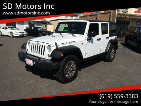 2017 Jeep Wrangler Unlimited for sale at SD Motors Inc in La Mesa CA