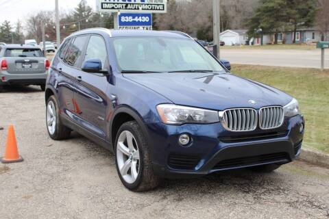 2017 BMW X3 for sale at Rallye Import Automotive Inc. in Midland MI