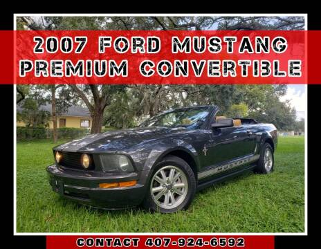 2007 Ford Mustang for sale at AFFORDABLE ONE LLC in Orlando FL