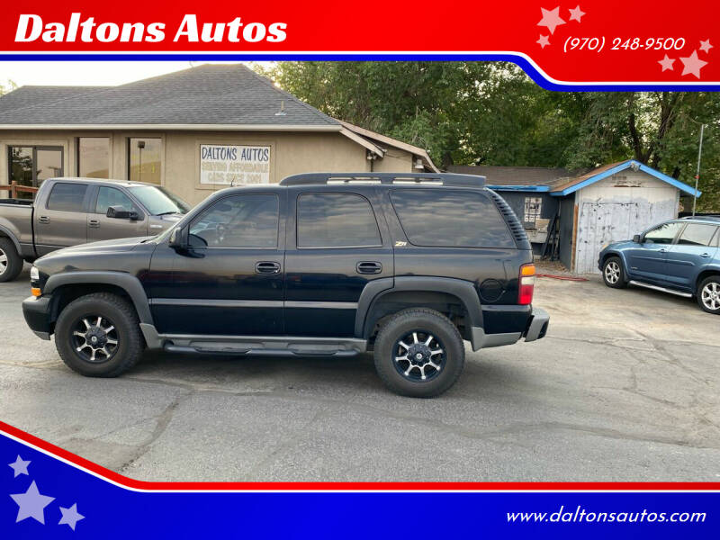 2002 Chevrolet Tahoe for sale at Daltons Autos in Grand Junction CO