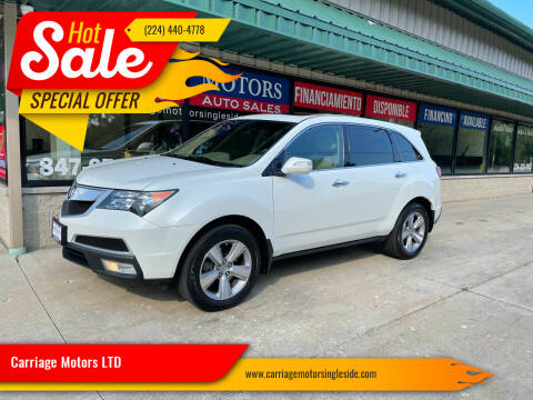 2013 Acura MDX for sale at Carriage Motors LTD in Ingleside IL