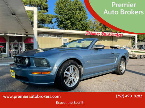 2006 Ford Mustang for sale at Premier Auto Brokers in Virginia Beach VA