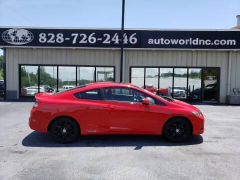 2013 Honda Civic for sale at AutoWorld of Lenoir in Lenoir NC