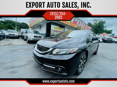 2013 Honda Civic for sale at EXPORT AUTO SALES, INC. in Nashville TN