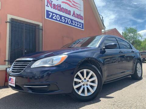 2013 Chrysler 200 for sale at Nations Auto Inc. II in Denver CO