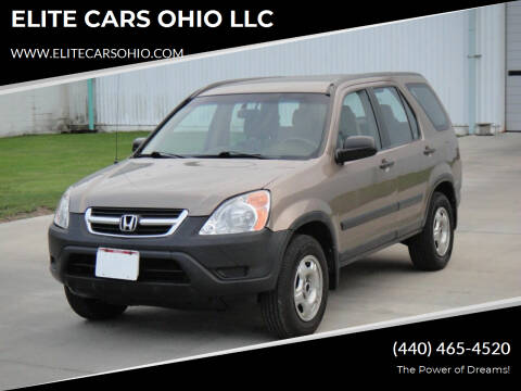 2003 Honda CR-V for sale at ELITE CARS OHIO LLC in Solon OH