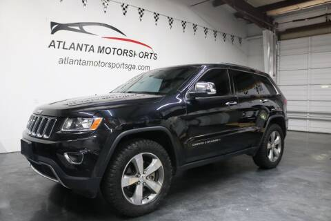 2014 Jeep Grand Cherokee for sale at Atlanta Motorsports in Roswell GA