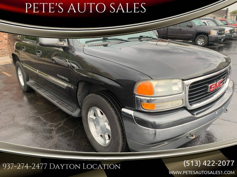 2005 GMC Yukon XL for sale at PETE'S AUTO SALES - Dayton in Dayton OH