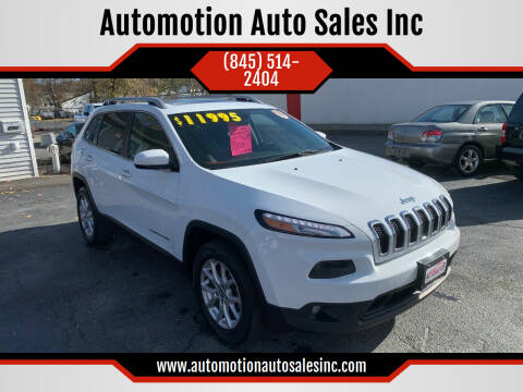 2014 Jeep Cherokee for sale at Automotion Auto Sales Inc in Kingston NY