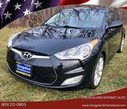 2012 Hyundai Veloster for sale at Chicagoland Internet Auto - 410 N Vine St New Lenox IL, 60451 in New Lenox IL