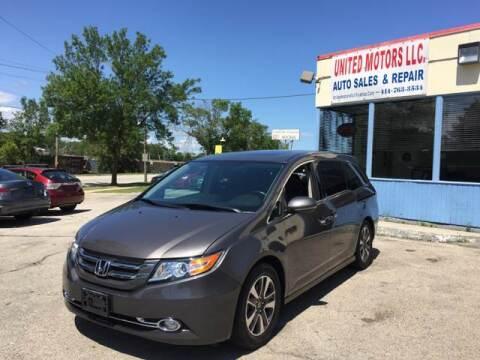 2014 Honda Odyssey for sale at United Motors LLC in Saint Francis WI