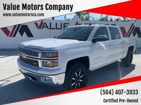 2015 Chevrolet Silverado 1500 for sale at Value Motors Company in Marrero LA