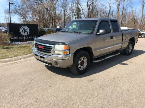 2003 GMC Sierra 1500 for sale at Station 45 Auto Sales Inc in Allendale MI