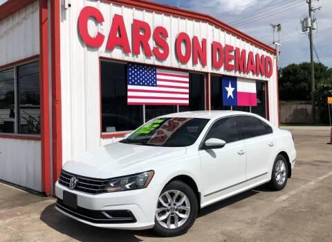 2016 Volkswagen Passat for sale at Cars On Demand 2 in Pasadena TX