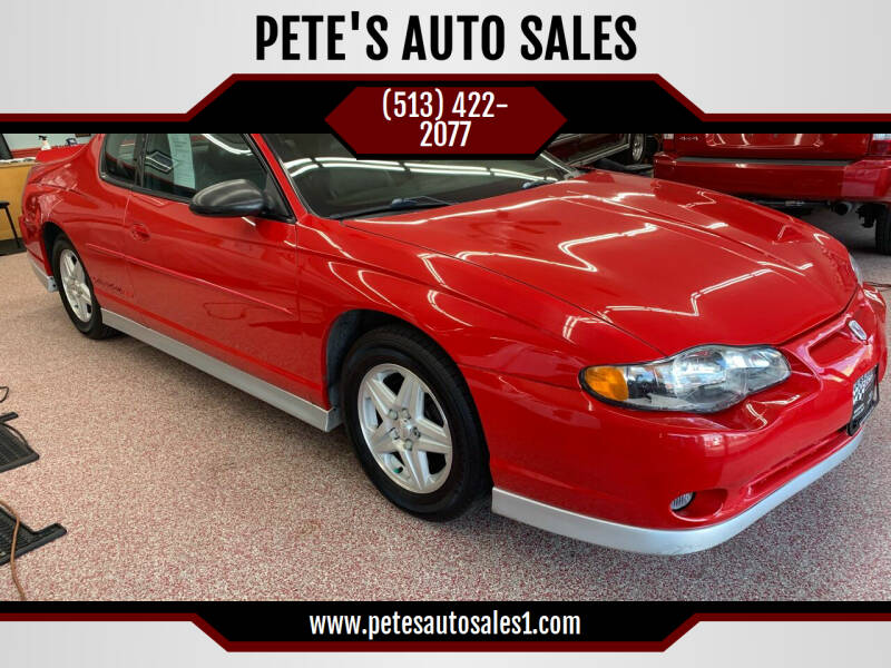 2002 Chevrolet Monte Carlo for sale at PETE'S AUTO SALES - Middletown in Middletown OH