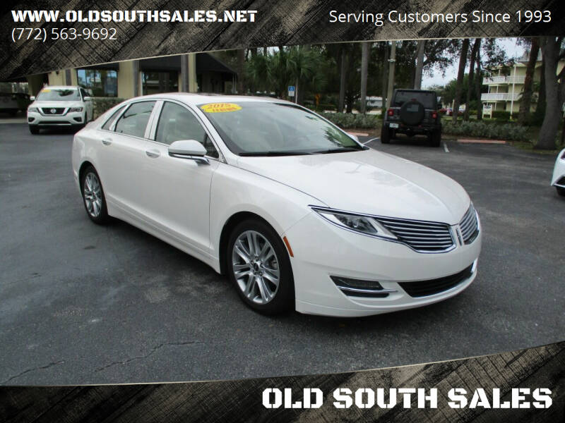 2015 Lincoln MKZ Hybrid for sale at OLD SOUTH SALES in Vero Beach FL