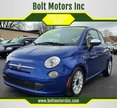 2012 FIAT 500c for sale at Bolt Motors Inc in Davenport IA