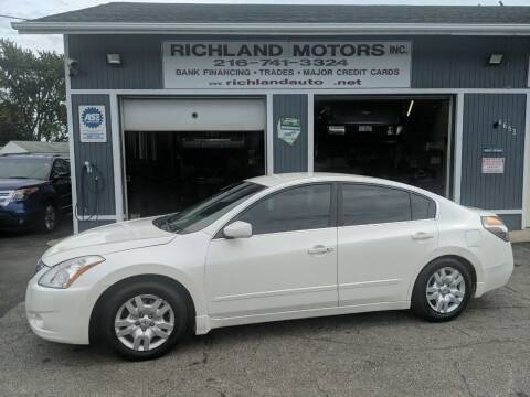2010 Nissan Altima for sale at Richland Motors in Cleveland OH