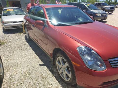 2004 Infiniti G35 for sale at Finish Line Auto LLC in Luling LA