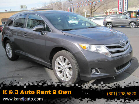2014 Toyota Venza for sale at K & J Auto Rent 2 Own in Bountiful UT