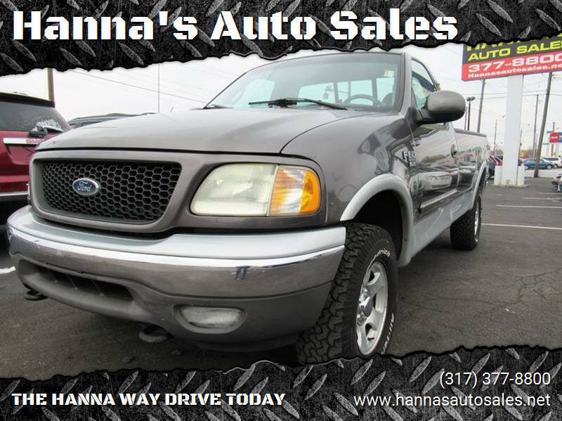 2002 Ford F-150 for sale at Hanna's Auto Sales in Indianapolis IN