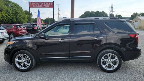 2014 Ford Explorer for sale at 220 Auto Sales in Rocky Mount VA
