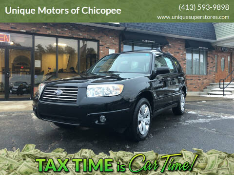 2008 Subaru Forester for sale at Unique Motors of Chicopee in Chicopee MA