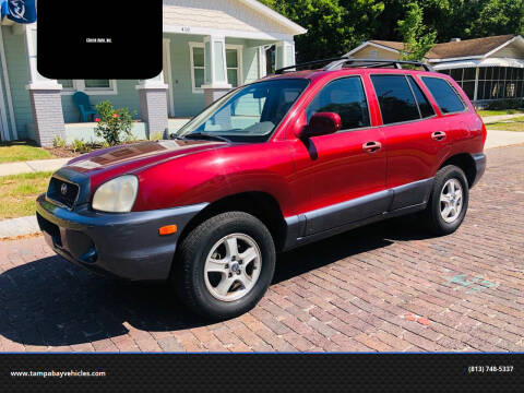 2003 Hyundai Santa Fe for sale at CHECK  AUTO INC. in Tampa FL