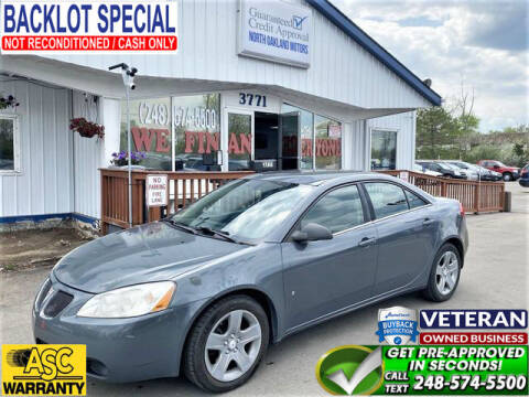 2009 Pontiac G6 for sale at North Oakland Motors in Waterford MI