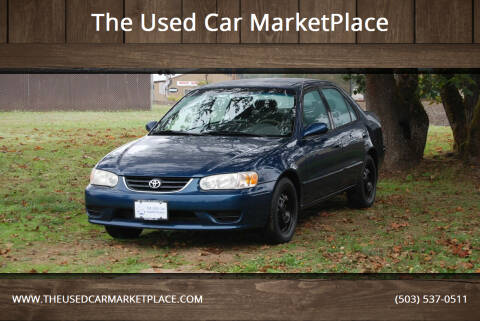 2001 Toyota Corolla for sale at The Used Car MarketPlace in Newberg OR