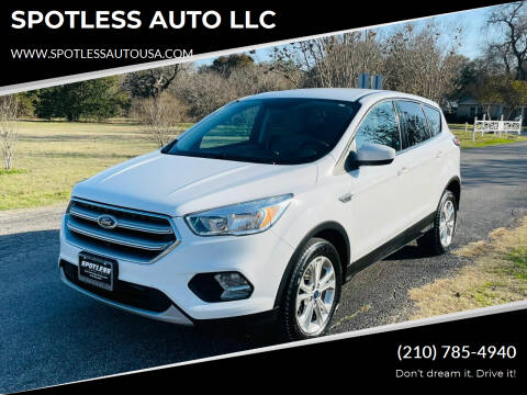 2017 Ford Escape for sale at SPOTLESS AUTO LLC in San Antonio TX