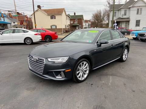 2019 Audi A4 for sale at Sisson Pre-Owned in Uniontown PA
