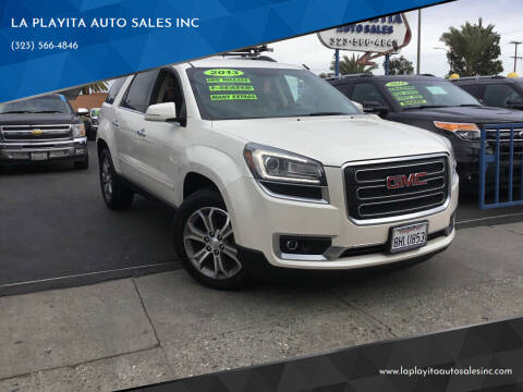 2013 GMC Acadia for sale at 2955 FIRESTONE BLVD in South Gate CA