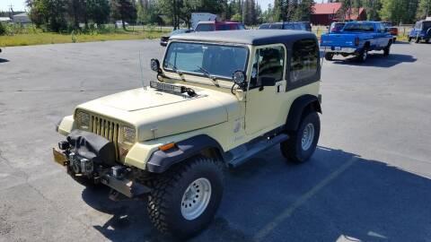 1990 Jeep Wrangler for sale at Great Alaska Car Co. in Soldotna AK