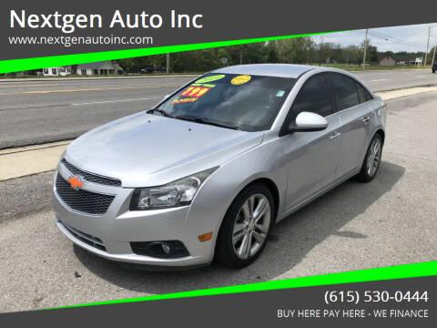 2014 Chevrolet Cruze for sale at Nextgen Auto Inc in Smithville TN