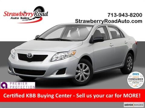 2009 Toyota Corolla for sale at Strawberry Road Auto Sales in Pasadena TX