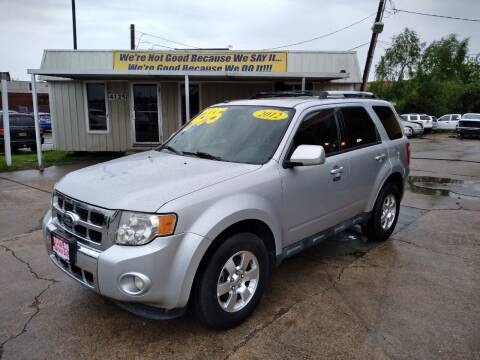 2012 Ford Escape for sale at Taylor Trading Co in Beaumont TX