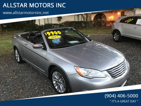 2013 Chrysler 200 Convertible for sale at ALLSTAR MOTORS INC in Middleburg FL