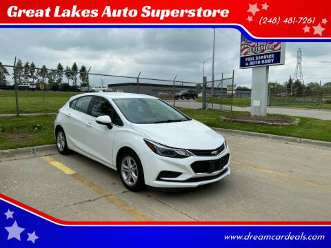 2017 Chevrolet Cruze for sale at Great Lakes Auto Superstore in Waterford Township MI