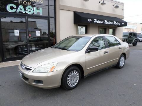 2006 Honda Accord for sale at Wilson-Maturo Motors in New Haven Ct CT