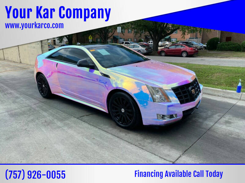 2012 Cadillac CTS for sale at Your Kar Company in Norfolk VA